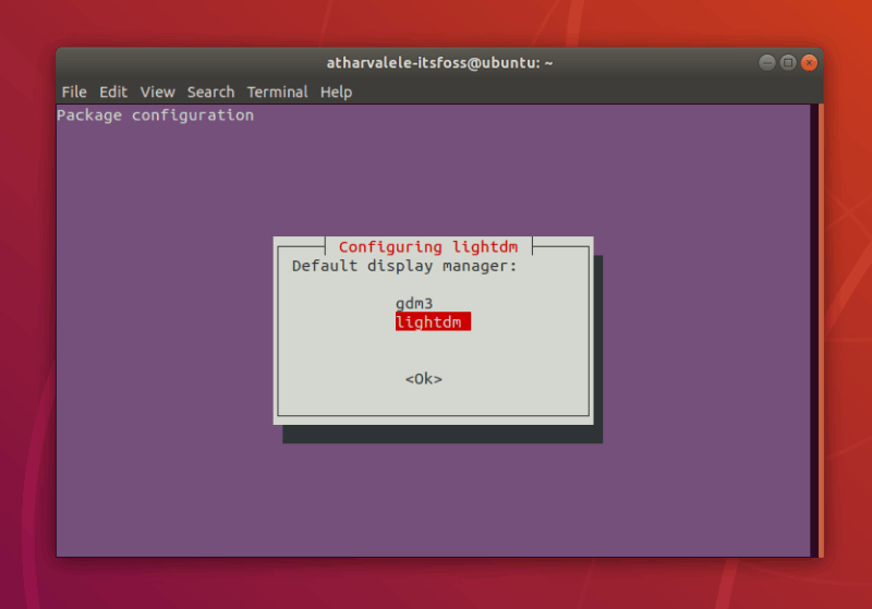 selecting display manager in Ubuntu
