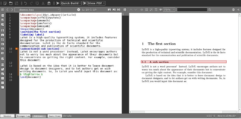 pdf viewer texmaker