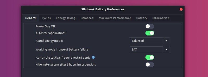 Slimbook Battery Optimizer for Ubuntu Linux