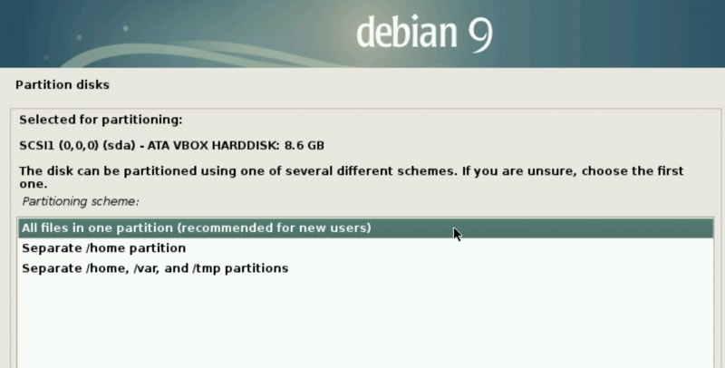 Partition Disks 3