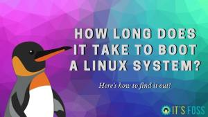 Find out Linux Boot Time