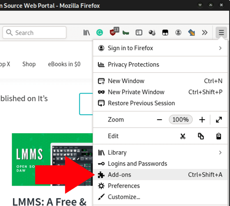 Firefox Dark Mode Step 2