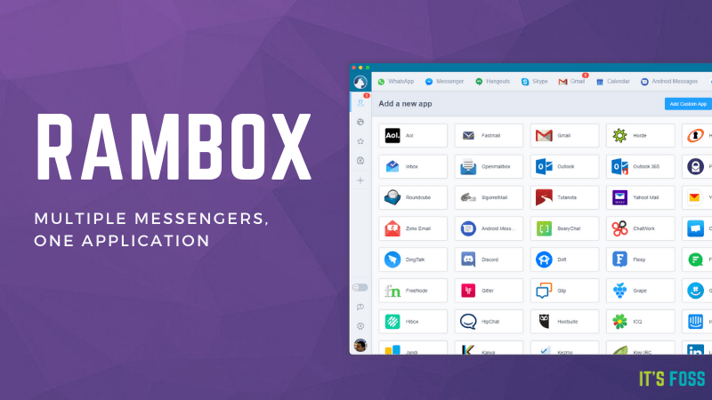 Rambox is an All-in-one Messenger for Linux