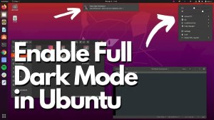 Enable Full Dark Mode Ubuntu