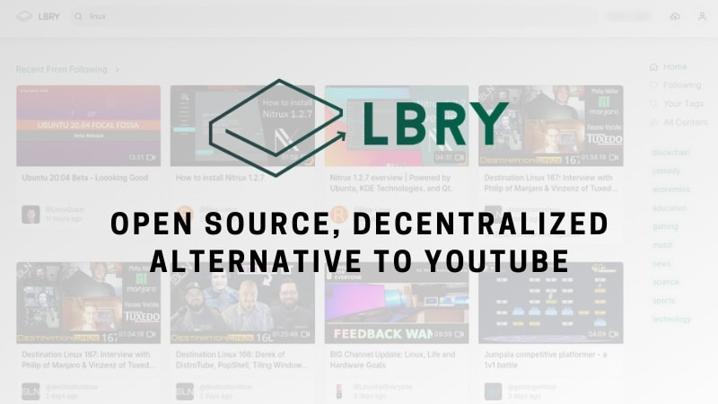 Meet LBRY, A Blockchain-based Decentralized Alternative to YouTube
