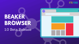 Beaker Browser 1 Beta