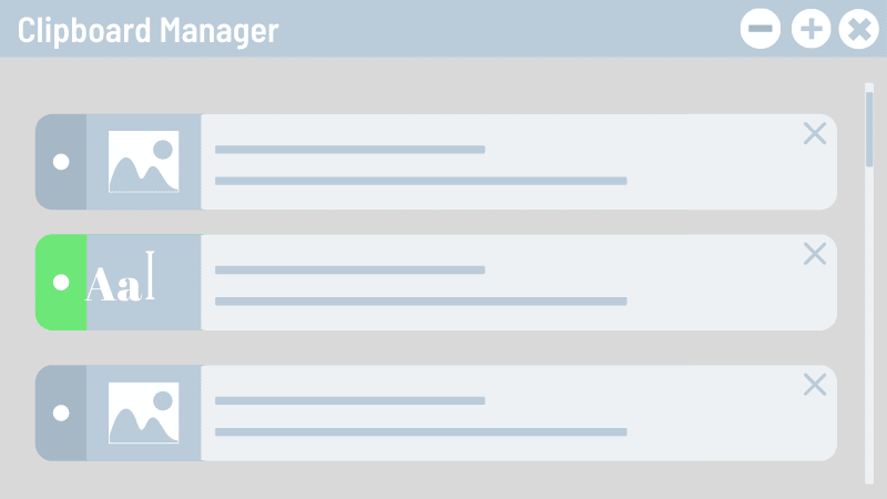 Clipboard Manager application