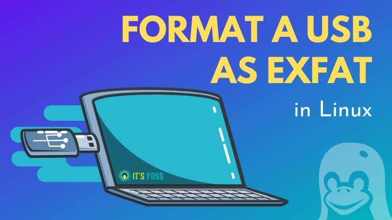 Format disk in ExFAT format inLinux