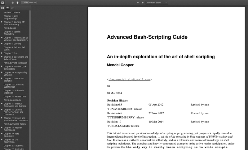 Advanced Bash Scripting Pdf