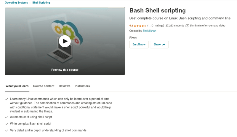 Bash Shell Scripting