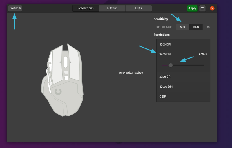 How to Configure Linux Gaming Mouse Using Piper