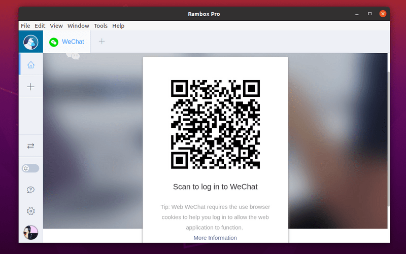 Scan Qr Code for WeChat in Linux