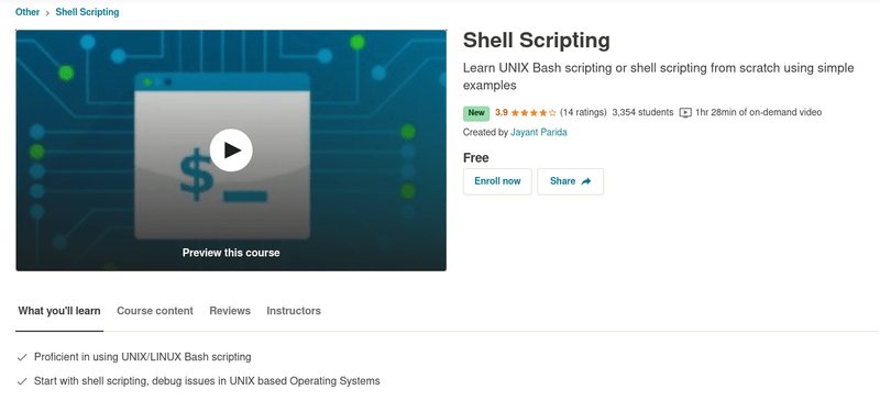 Shell Scripting Udemy