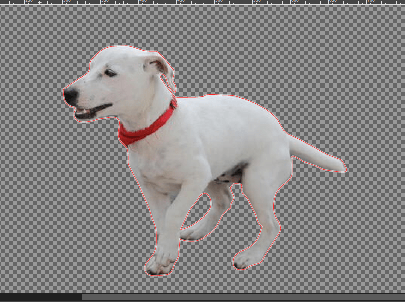Background removed from a complex image in GIMP
