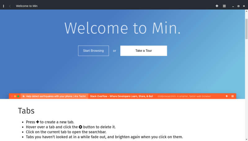 Min Browser Tour