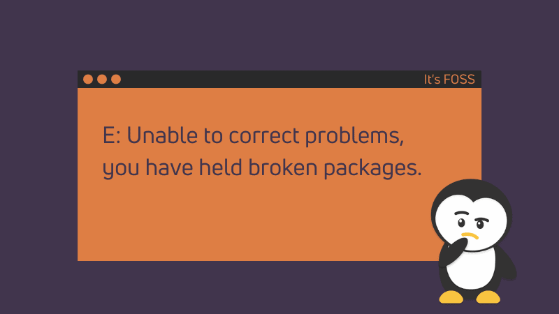 Fixing Unable to Fix Problems, you've kept broken packages