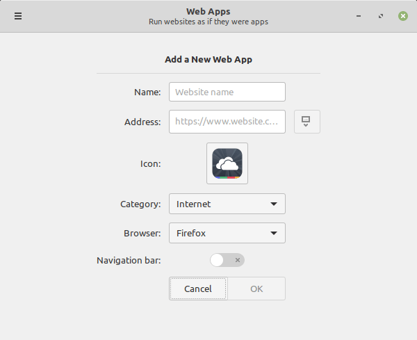 Add Web App In Linux Mint