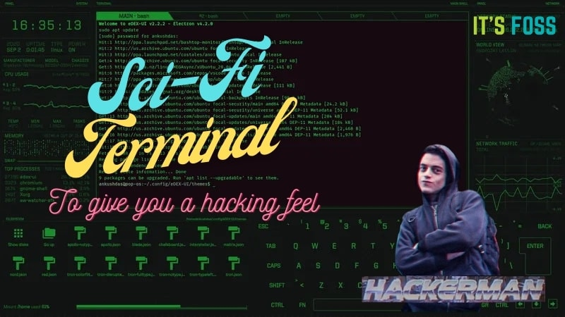 Edex UI Hacking Terminal for Linux