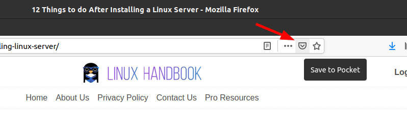 Pocket Firefox Integration