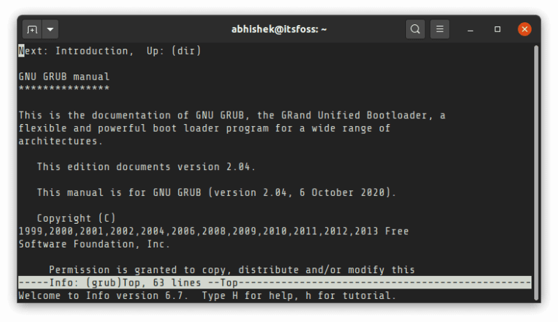 Grub Manual Linux Terminal