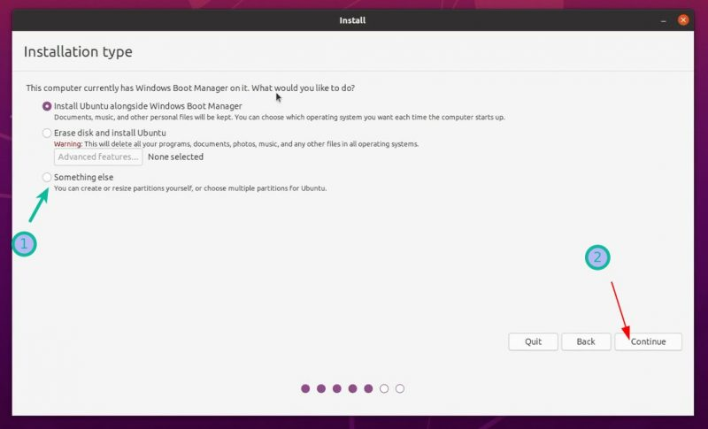 Install Ubuntu Something Else