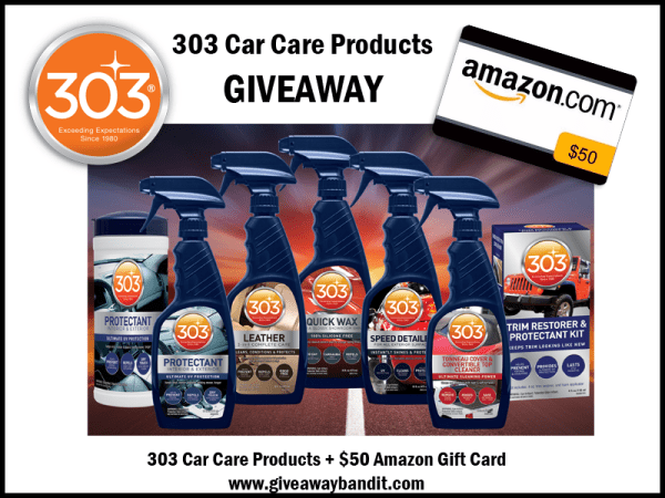 303 Car Care Products Prize Package Giveaway It39s Free
