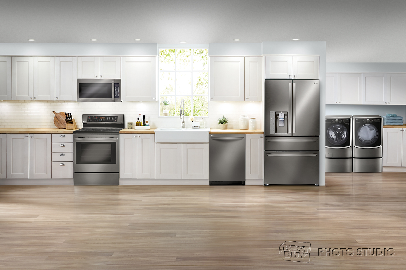 best buy kitchen appliances stainless steel sinks celebrate earth day with lgus twin wash and sidekick