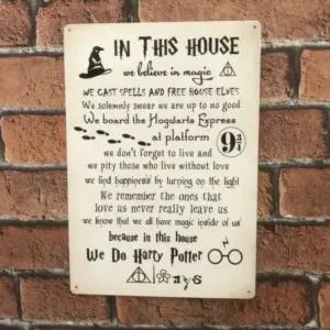 Harry Potter Metal Sign