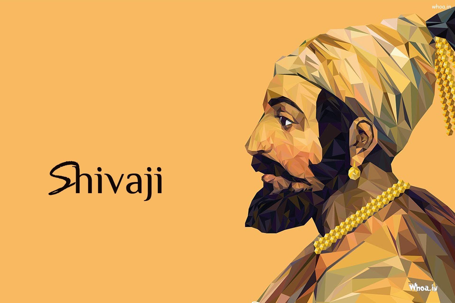 Shivaji Maharaj Hand Painting HD Wallpaper