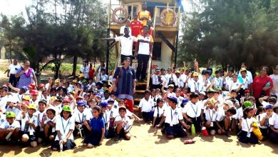 Photo of Drishti lifeguards conduct beach safety session for students