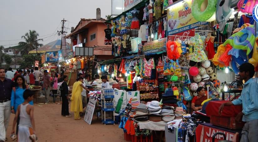 calangute-shopping-market