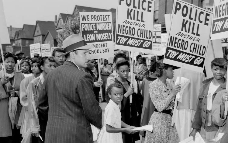 How far have we come? Detroit protests the police killing of 15-year-old Leon Mosley, June 1948.