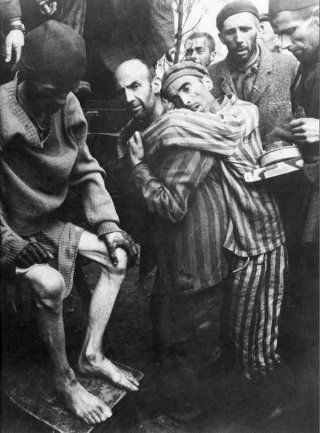 Liberation from the hell of Auschwitz, 1945.