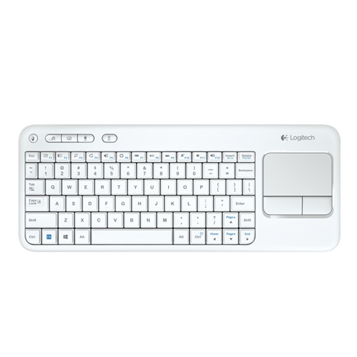 Logitech K400 Wireless Touch Keyboard (White ENG)