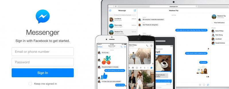 Facebook lanson shërbimn Messenger edhe në ueb