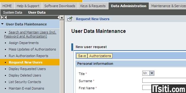 Create SAP OSS ID