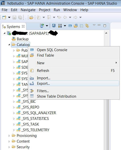 How to Export & Import HANA Table