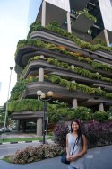 I don't know what this building is but I love how in Singapore all the buildings are built around trees and greenery. Everything mixes so well!