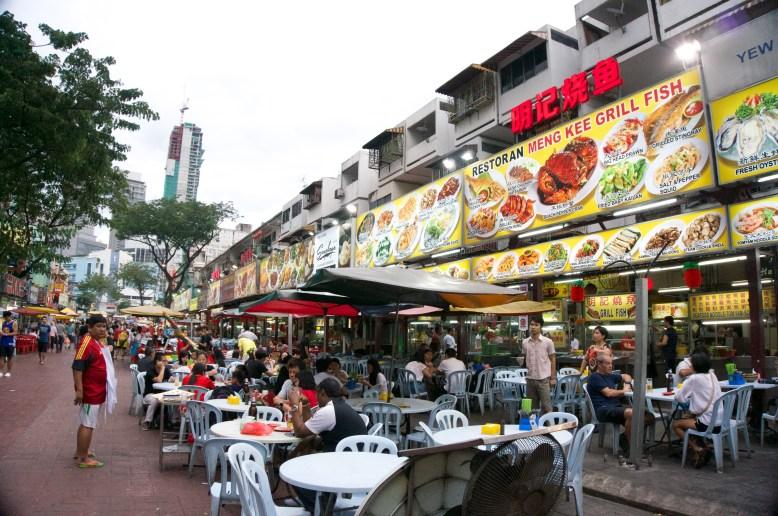 Jalan Alor Food street!