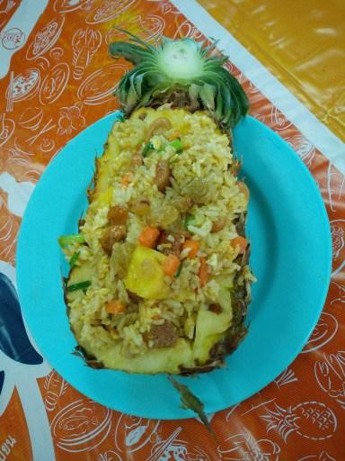 bomb pineapple fried rice!