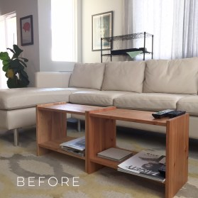 Before // make-shift coffee table // itsjoulife.com