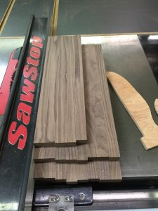 Walnut boards ripped in to strips via It's Jou Life blog https://wp.me/p7RBMP-Vs