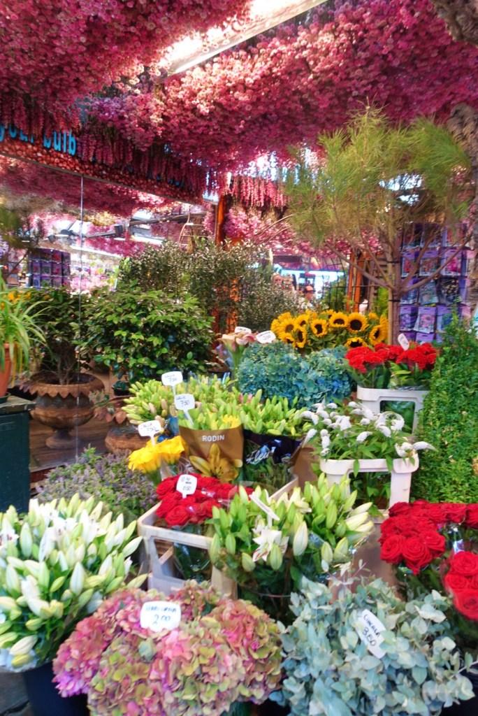 Fresh flowers for sale at Bloemenmarkt, Amsterdam