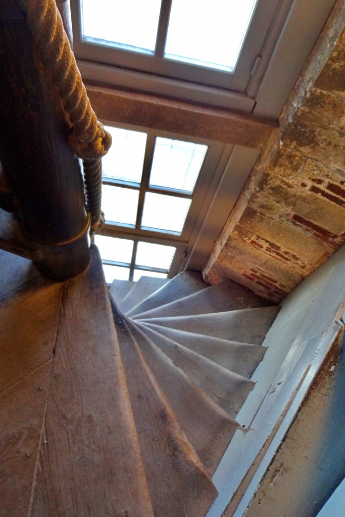 Spiral staircase in Belfry Tower, Bruges