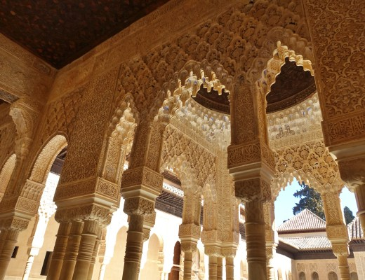 Moorish architecture at the Alhambra