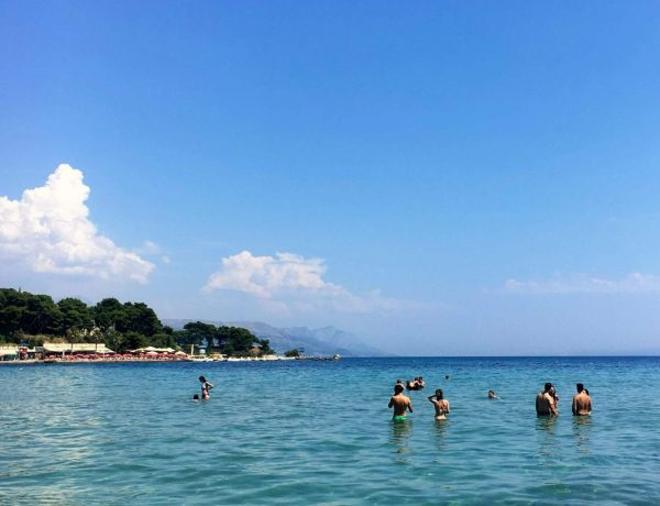 Bacvice Bay, Split with people in the water