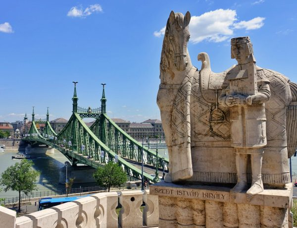 Liberty Bridge and statue