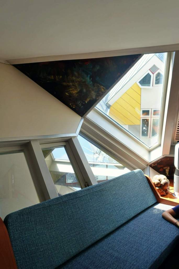 Lounge of cube house, Rotterdam