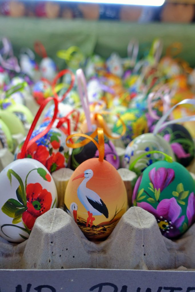 Painted eggs at Central Market Hall