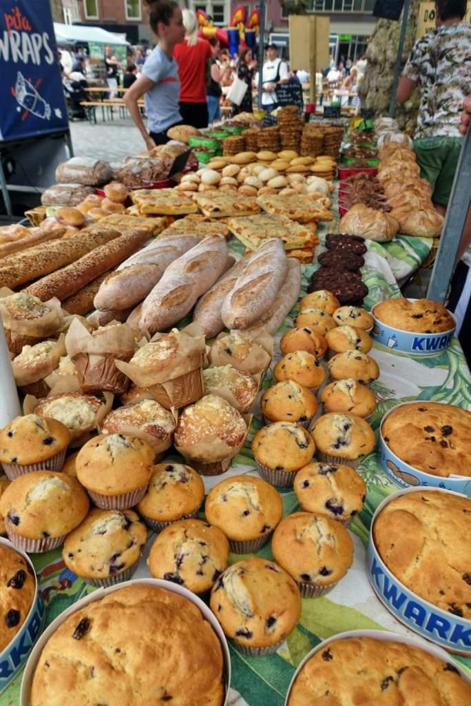 Baked goods at Utrecht market